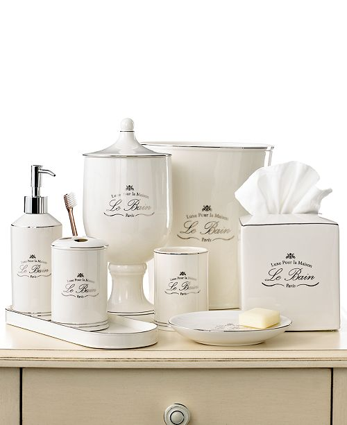 The Le Bain Accessories Are A Sophisticated French Inspired Collection Made From Fine Porcelain Each Piece Is Accented With Platinum Toned Detailing