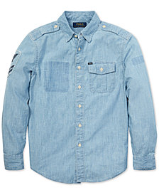 Polo Ralph Lauren Big Boys Chambray Cotton Shirt