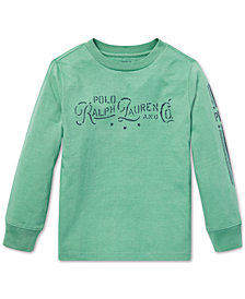 Polo Ralph Lauren Little Boys Graphic Long-Sleeve Cotton T-Shirt