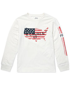 Polo Ralph Lauren Big Boys Graphic Long-Sleeve Cotton T-Shirt