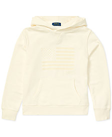 Polo Ralph Lauren Big Boys Embroidered Terry Cotton Hoodie