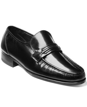 FLORSHEIM Men'S Como Moc Toe Penny Loafer Men'S Shoes in Black