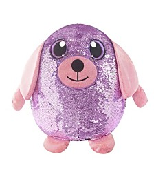 "Shimmeez 8"" Delilah Dog, Sequin Plush Stuffed Animal"
