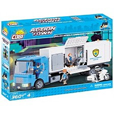 Action Town Police Mobile Command Center 360 Piece Construction Blocks Building Kit