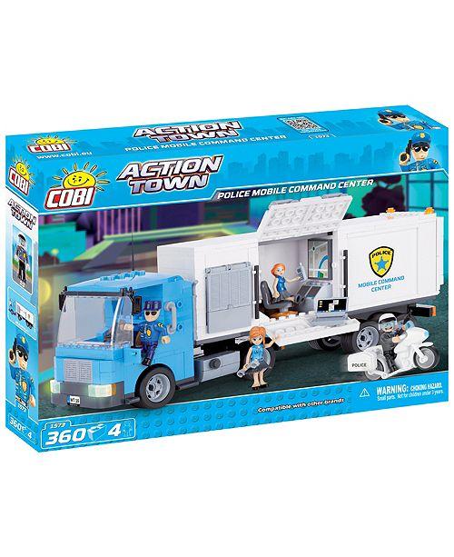 COBI Action Town Police Mobile Command Center 360 Piece Construction Blocks Building Kit