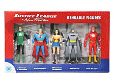 NJ Croce DC Comics Justice League The New Frontier Mini Bendable 5 Piece Figure Set