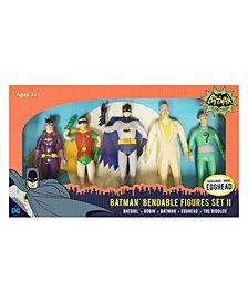 NJ Croce DC Comics Batman Classic TV Series Bendable Figures Set II