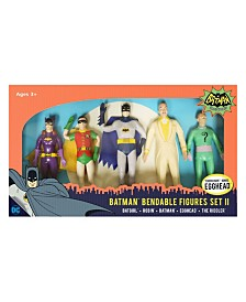 NJ Croce DC Comics Batman Classic TV Series Bendable Figures Set II