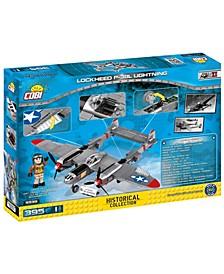 Small Army World War II Lockheed P38 Lightning Airplane 395 Piece Construction Blocks Building Kit