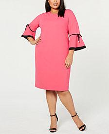 Calvin Klein Plus Size Flare-Sleeve Sheath Dress