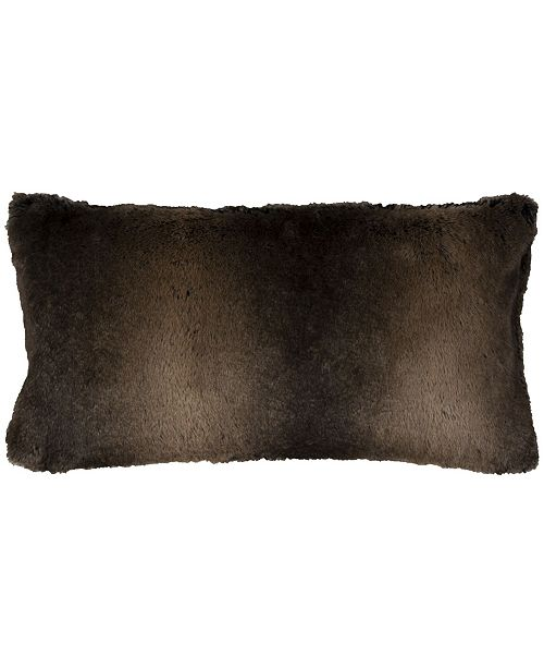 """Rizzy Home 14"""" x 26"""" Faux Fur Down Filled Pillow"""