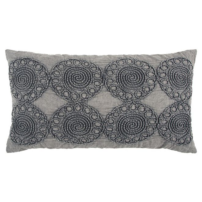 """Rizzy Home 14"""" x 26"""" Medallion Down Filled Pillow"""