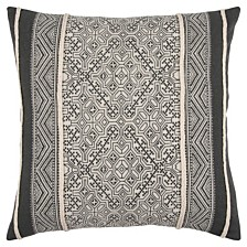 """Rizzy Home 20"""" x 20"""" Tribal Design Down Filled Pillow"""