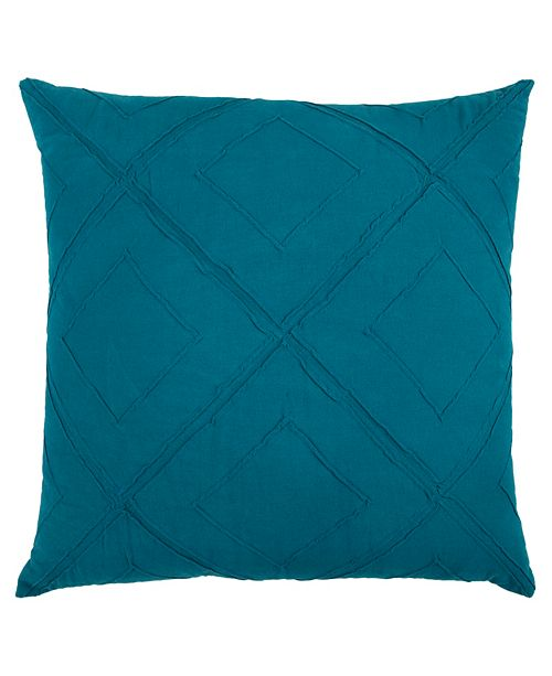 "Rizzy Home 20"" x 20"" Geometrical Design Down Filled Pillow"