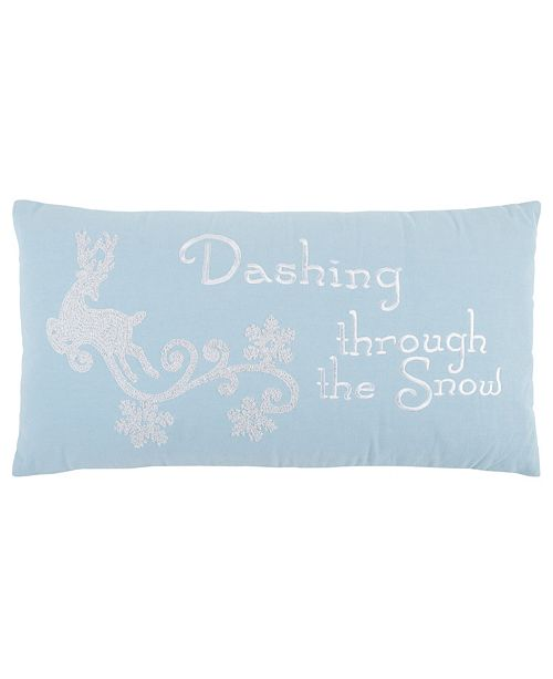 "Rizzy Home 14"" x 26"" Typography Down Filled Pillow"