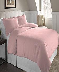 Pointehaven Superior Weight Cotton Flannel Duvet Set Twin Twin XL