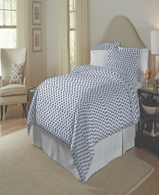 Pointehaven 200 Thread Count Cotton Percale Printed Duvet Set Twin Twin XL