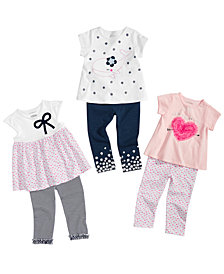 First Impressions Baby Girls Bow Tunic, Graphic T-Shirts & Leggings, Created for Macy's