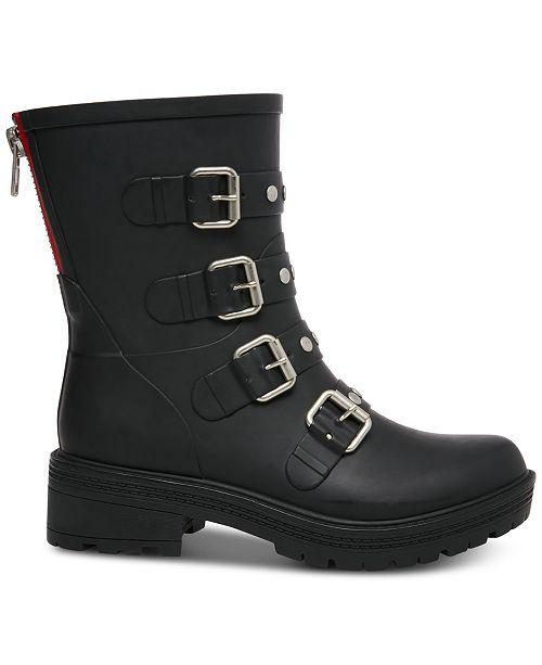 117e8611a1a Steve Madden Women s Thunder Rain Booties   Reviews - Boots - Shoes ...