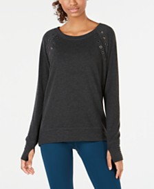 Ideology Grommet-Trimmed Top, Created for Macy's