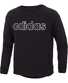 adidas Big Girls Logo-Print Cotton Sweatshirt