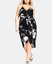 7b7a69eb52 City Chic Trendy Plus Size Twisted Floral-Print Dress