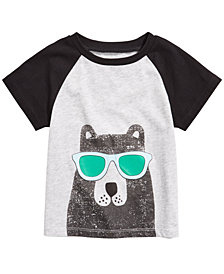 First Impressions Toddler Boys Bear-Print T-Shirt, Created for Macy's