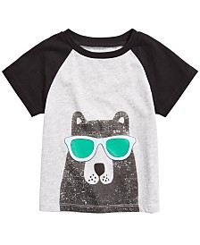 First Impressions Baby Boys Cool Bear T-Shirt, Created for Macy's