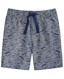 First Impressions Baby Boys Cotton Printed Chambray Shorts, Created for Macy's