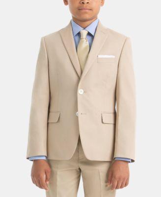 로렌 랄프로렌 Lauren Ralph Lauren Big Boys Suit Jacket,Tan