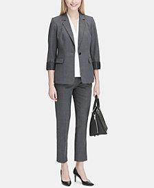 Calvin Klein Plaid Blazer & Ankle Pants