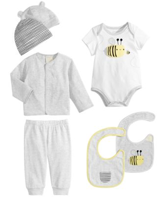 Baby Boys & Girls 2-Pk. Reversible Stripes & Bees Bibs, Created for Macy's