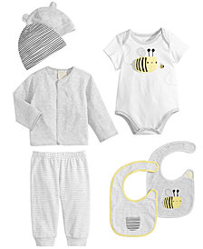 First Impressions Baby Boys & Girls Hats, Bees Bibs, Bodysuit, Cardigan & Pants, Created for Macy's