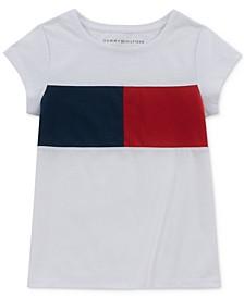 Little Girls Pieced Logo T-Shirt