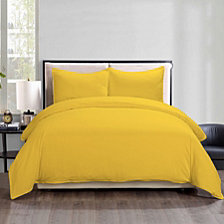 Lotus Home Water Resistant Duvet Cover Mini Set with Anti-Stain Microfiber