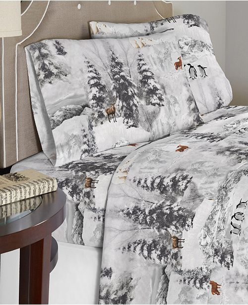 Celeste Home Luxury Weight Cotton Flannel Sheet Set Cal King