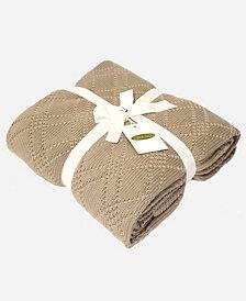 "Knit 50"" x 70"" Throw Blanket"