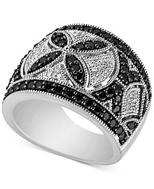 Diamond Openwork Decorative Ring (1-1/2 ct. t.w.) in Sterling Silver