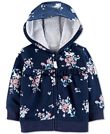 Carter's Baby Girls Floral-Print Cotton Hoodie