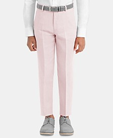 Big Boys Straight-Leg Linen Pants