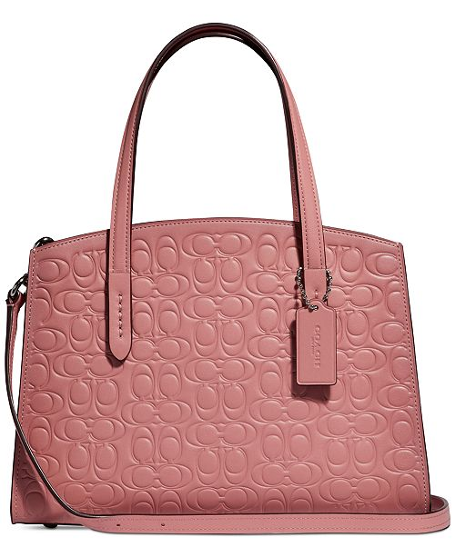 2668ead12 COACH Charlie Carryall 28 in Signature Leather & Reviews - Handbags ...