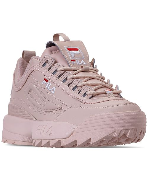 buy best good texture stylish design Women's Disruptor II Premium Casual Athletic Sneakers from Finish Line