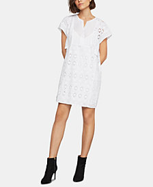BCBGMAXAZRIA Eyelet Shift Dress