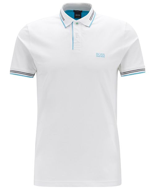 0446aa00cef4 Hugo Boss BOSS Men's Slim-Fit Contrast Polo & Reviews - Polos ...