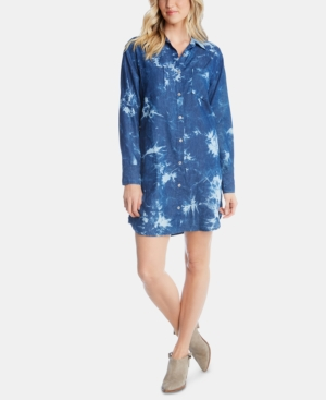 Karen Kane  TIE-DYED DENIM SHIRTDRESS