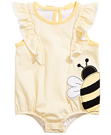 First Impressions Baby Girls Cotton Ruffle Gingham Romper, Created for Macy's