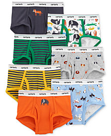Carter's Little & Big Boys 7-Pk. Printed Cotton Briefs