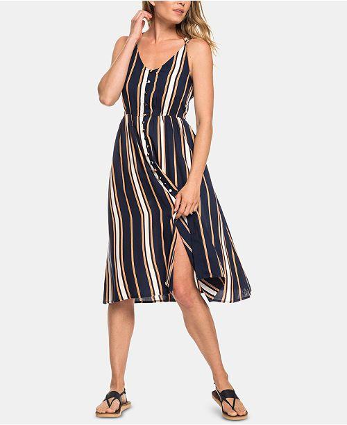 12a5f7c7dd1 Roxy Juniors  Sunset Beauty Striped Strappy Dress  Roxy Juniors  Sunset  Beauty Striped Strappy ...
