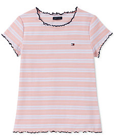 Tommy Hilfiger Big Girls Striped Ribbed Top
