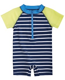 First Impressions Baby Boys Rash Guard Romper Swimsuit, Created for Macy's